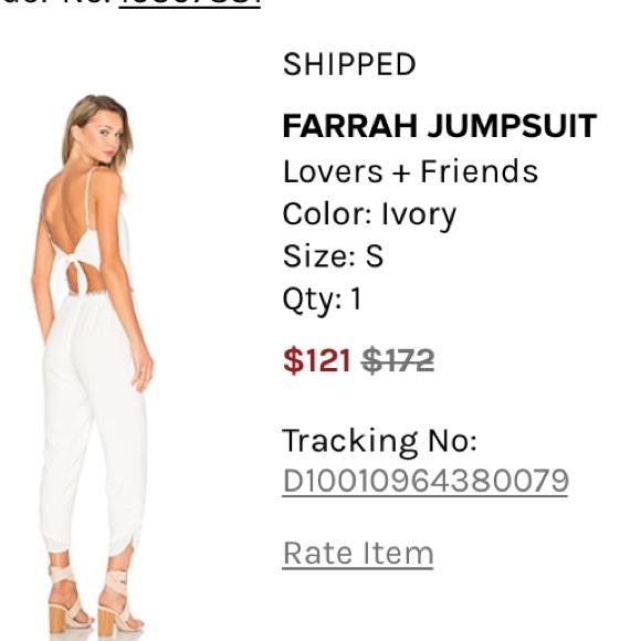 e6b2250cbc7 Lovers + Friends Pants - Lovers + Friends Farrah jumpsuit